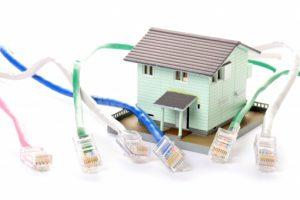 住宅解体工事の電話線撤去