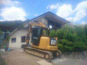 木造2階建て住宅解体工事 二本松市 施工前